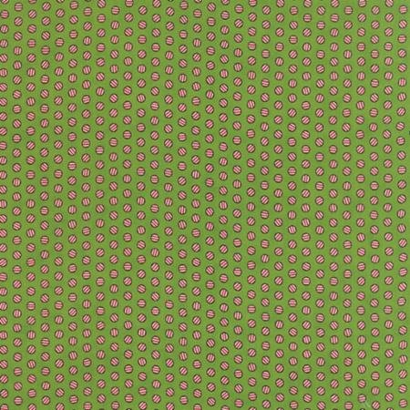 Moda The Cookie Exchange  5622 17 Green with Red stripe circles