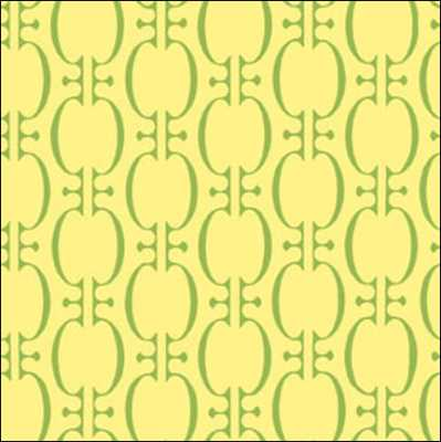 In The Beginning Fabrics - Bloom ModernOval Chain - Yellow5BLM2