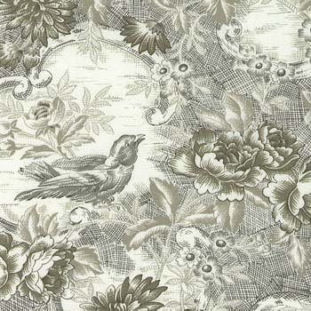 In the Beginning - Floral Bouquet Toile5FB-65 Green - Sharon Evans Yenter