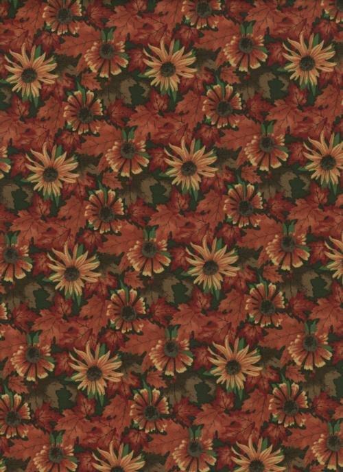 Moda - Maple Island Pine Green  Floral   6616-14