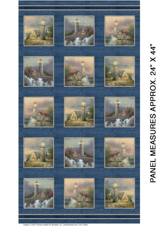 Benartex Coastal haven Panel 6950 53 Blue/Multi