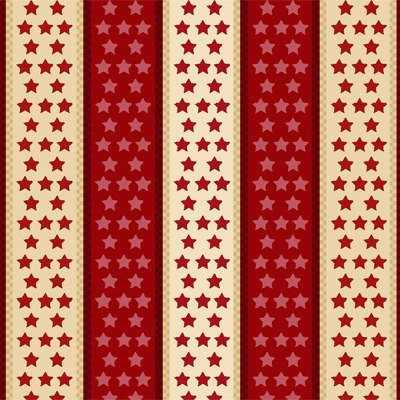 Henry Glass Sweet Land of Liberty - Red Stars and Stripes