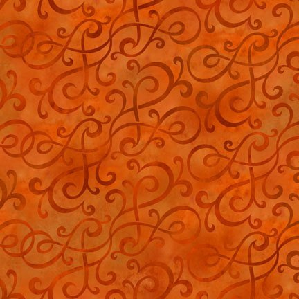 In The Beginning -  Scroll Swirl Orange