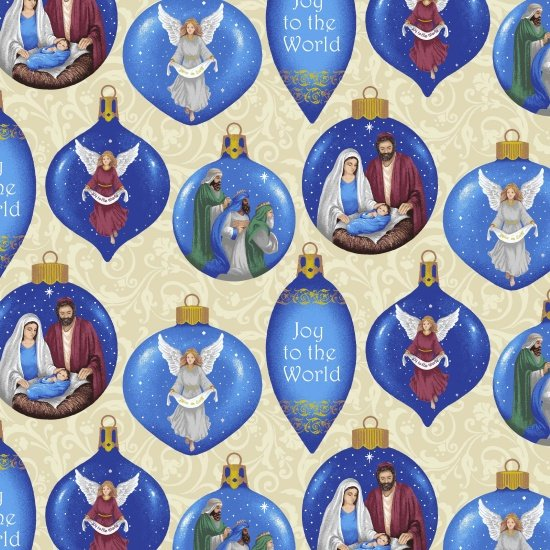 Blank Silent Night 8547 44 Ivory Christmas Ornaments