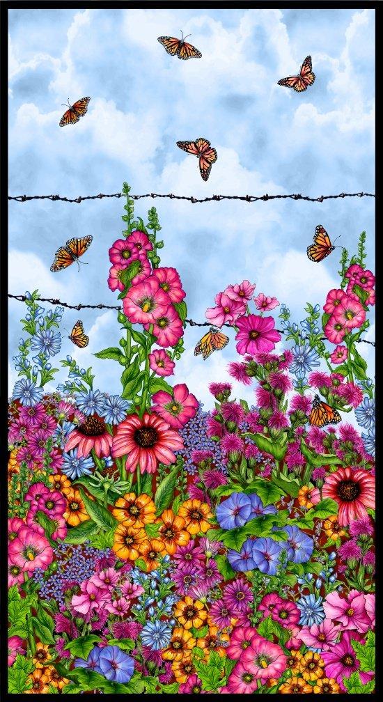Blank Prairie Gate Floral Panel 8572P 11