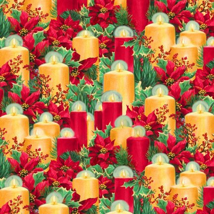 Blank Quilting Let It Snow 9127 88 All Over Candles