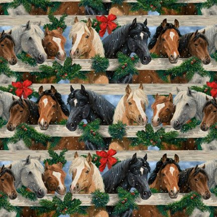 Blank Quilting Let It Snow 9130 39 Horse Stripe