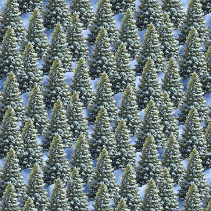 Blank Quilting Let It Snow 9131 66 All Over Trees