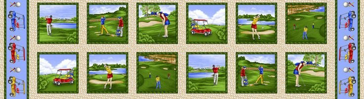 Henry Glass - Swing Time 9446-66Golf Panel