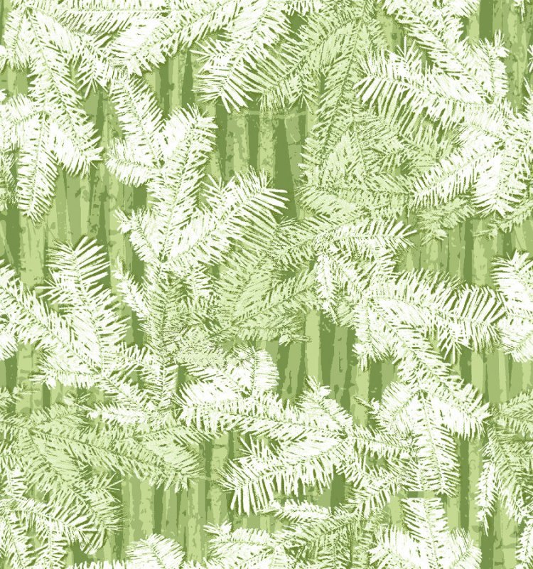 Henry Glass Holiday Cheer - Green  9690 66