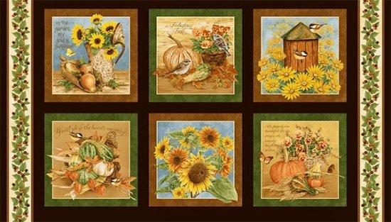 Henry Glass Harvest Botanical Panel 9788P 33