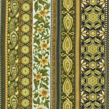 Kaufman Holiday Flourish FrostAPTM-12412-254 Green and Gold
