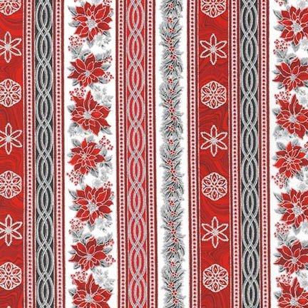 Robert Kaufman Holiday Flourish 11 Silver Stripe APTM 17339 186