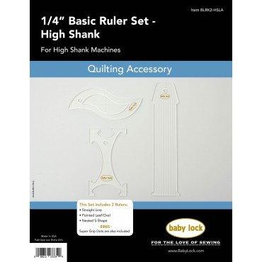 Babylock 1/4 Basic ruler Set High Shank for High Shank and Longarm Machines