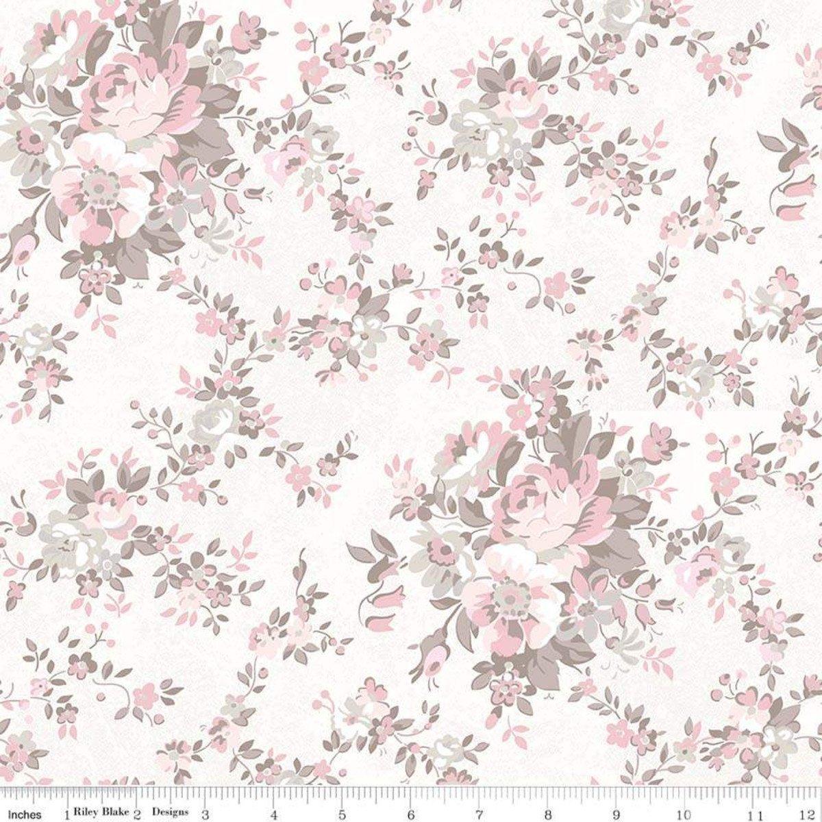 Riley Blake Rose Garden Floral Cream C7680 Cream