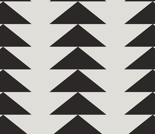 Art Gallery Take Shape CAP S 4006 Trilateral Stripe White and Black