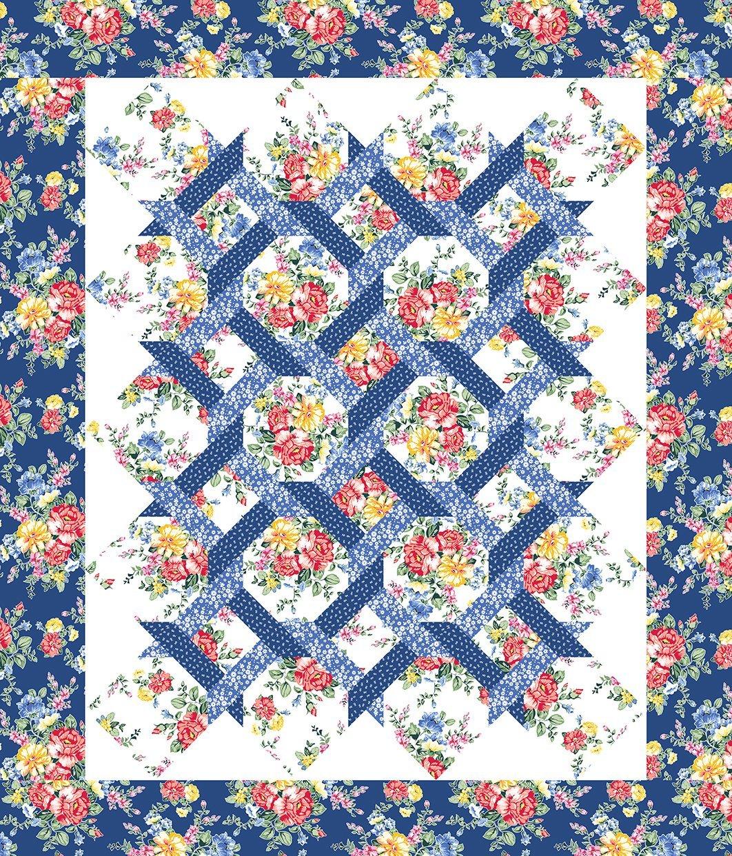 In the Beginning Fabrics Cherry Lemonade Garden Twist Kit