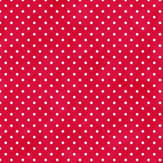 Henry Glass Arctic Antics Flannel Red With White Dots F6536 88