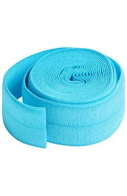 ByAnnie Fold Over Elastic 3/4  Parrot Blue