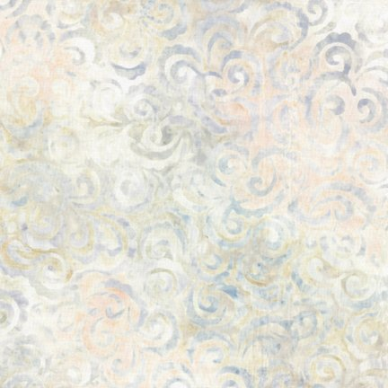 Wilmington Prints Batiks Light Multi Curlicues 1400 22176 112
