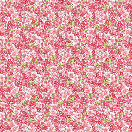 Wilmington Prints Amorette  Packed Floral Pink Q1803 98636 137