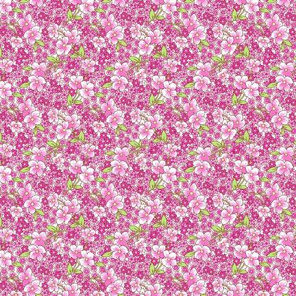 Wilmington Prints Amorette Packed Floral Purple Q1803 98636 167