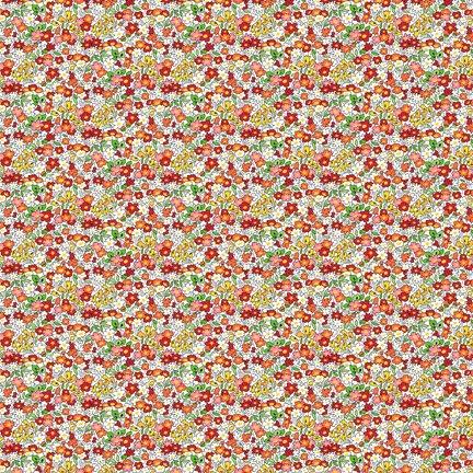 Wilmington Prints Amorette Tiny Garden Red Q1803 98637 135