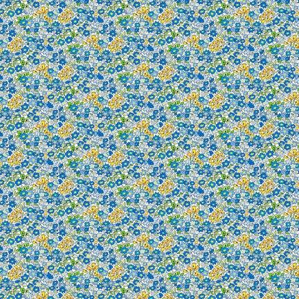 Wilmington Prints Amorette Tiny Garden Blue Q1803 98637 145