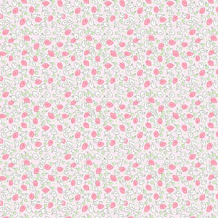 Wilmington Prints Amorette Leaves & Flowers Pink Q1803 98639 317