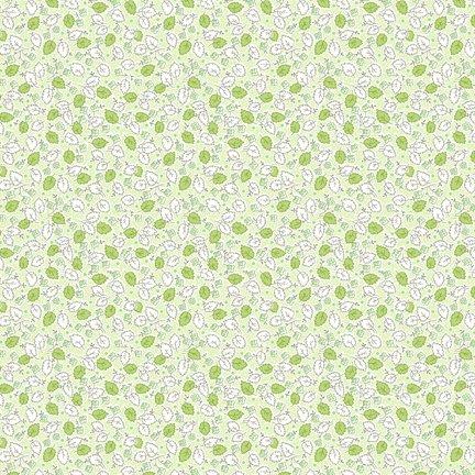 Wilmington Prints Amorette Leaves & Flowers Green Q1803 98639 717