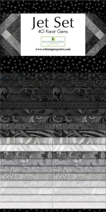 white /& black Wilmington Prints #1 Fan Essential Gems  Black grey
