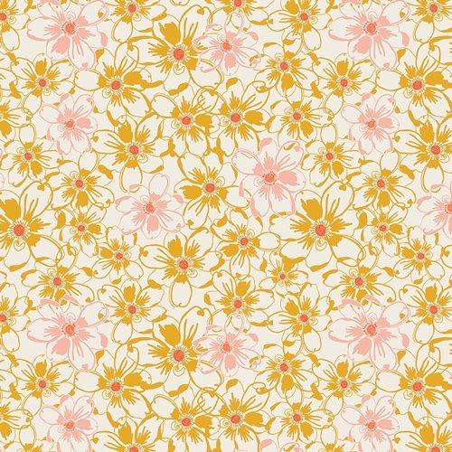Art Gallery Sweet as Honey Bed of Daisies Gold  SAH 1603