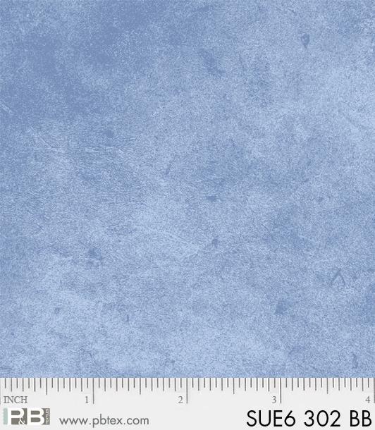 P & B Textiles - Suede Blue Blender SUE6 00302 BB