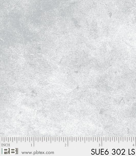 P & B Textiles - Suede Light Silver Blender SUE6 00302 LS