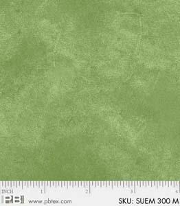 P & B Textiles Suede SUEM 00300 M Med Green