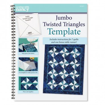 Jumbo Twisted Triangles Book and Template by Nancy Zieman
