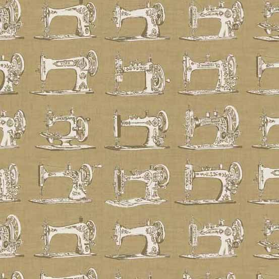 Andover - Haberdashery All over   Sewing  Machines Taupe Background  TP  1701 V