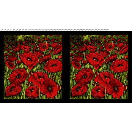 Clothworks Poppy Poetry Y2657 82 Panel