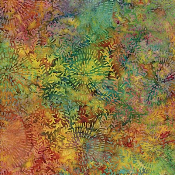 Island Batik Swirl Leaf-Snowcone-Glowing Embers 121610880