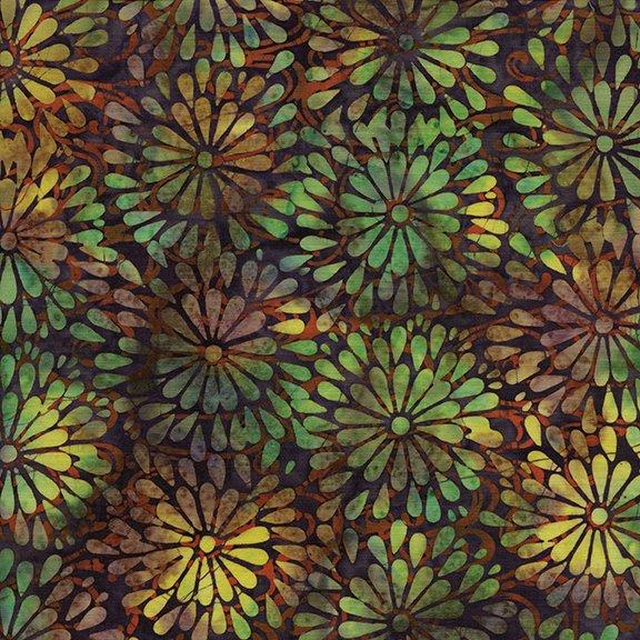 Island Batik Round petal Floral-Purple-Glowing Embers 121612480