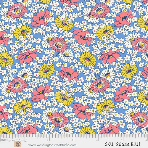 Washington Street Studio  Vintage 30's florals wild daisy