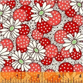 Windham Feedsack 71872-1 Red Polka Dot Flower