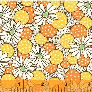Windham Feedsack 41872-3 Yellow Polka Dot Flower