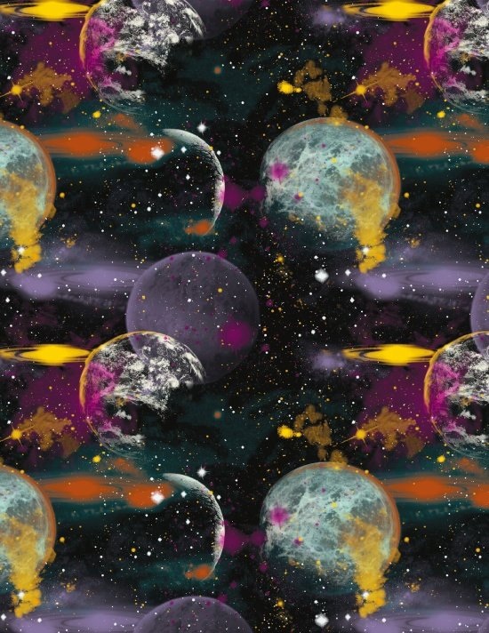 Blank Quilting Cosmic Space 8454 099 Black