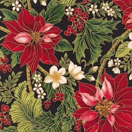 Robert Kaufman Holiday Flourish 9 APTM-15763-2 Black