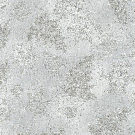 Kaufman Holiday Flourish Metallic 12 Sliver 18341-186