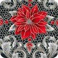 Kaurman Holiday Flourish Metallic 12 Silver 18342-189