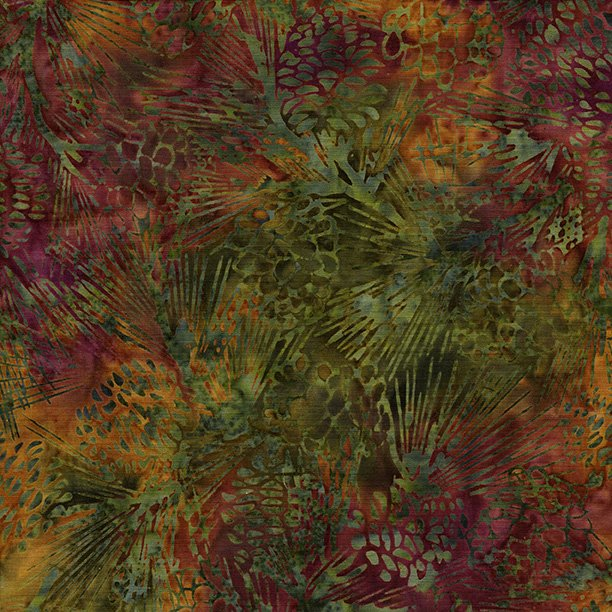 Island Batik Pine cone, Snowcone, Autum's Grace