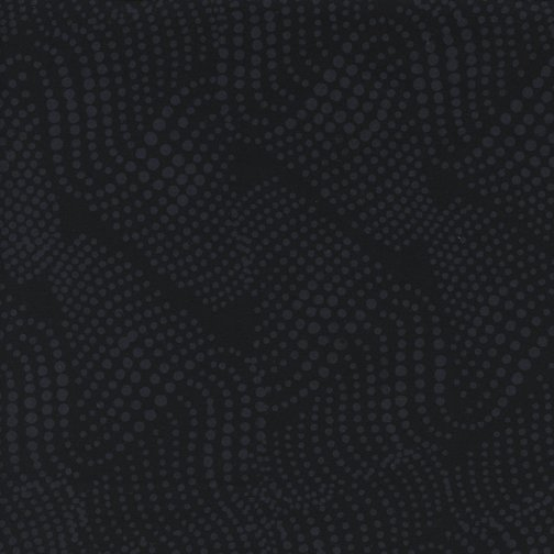 Island Batik Blender BE23-E1 Wavy Dots-Black