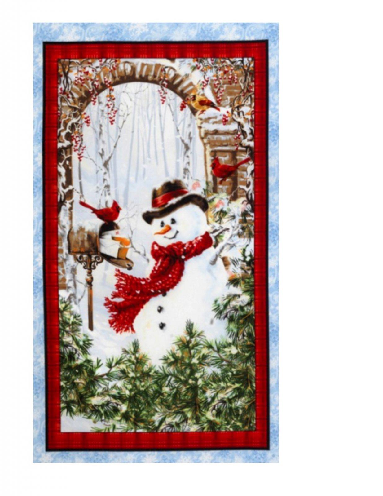 Timeless Treasures Dona C4261 Snow Panel